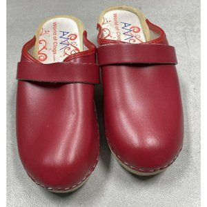AM-Toffeln World of Clogs Size 37 US 6-6.5 Leather